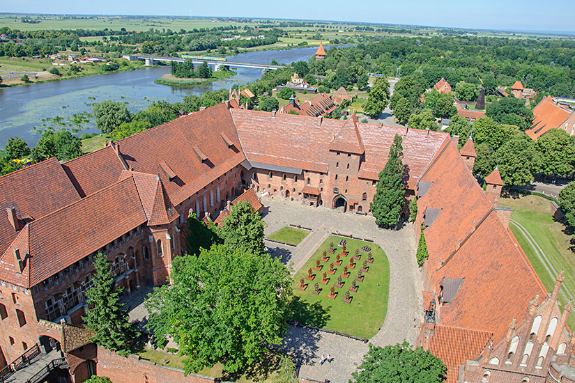 image Pologne Malbork panorama  fo
