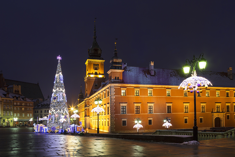 image Pologne Varsovie Place du Chateau Noel 18 as_237612019