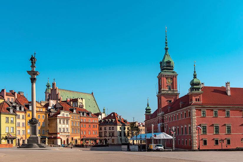 image Pologne Varsovie place du chateau  fo
