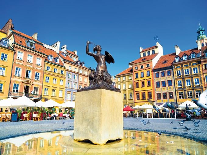 image Pologne varsovie statue