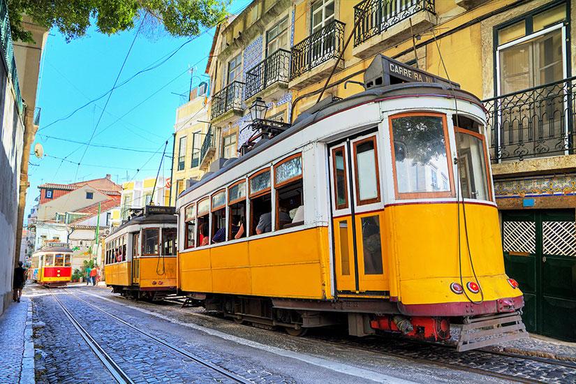 image Portugal Lisbonne Tramway jaunes  it