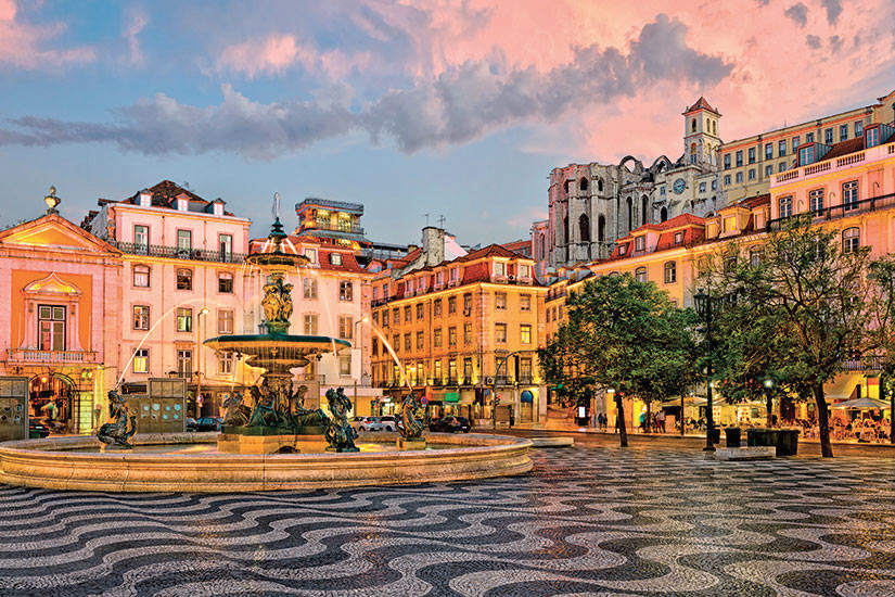 image Portugal Lisbonne place Rossio  fo