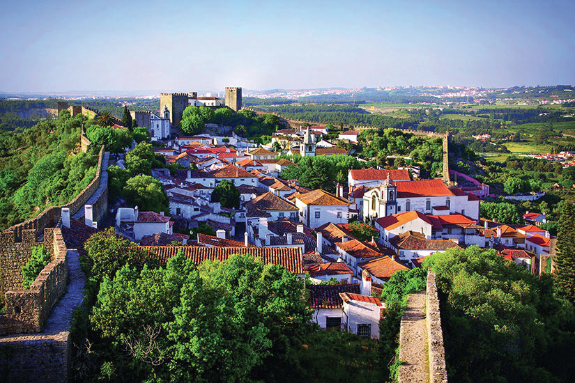 image Portugal Obidos Vue aerienne  it