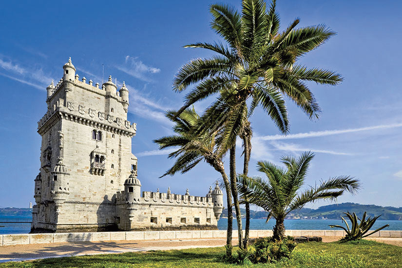 image Portugal Tour Belem ourelle Belemsky sur le fleuve Tage  fo
