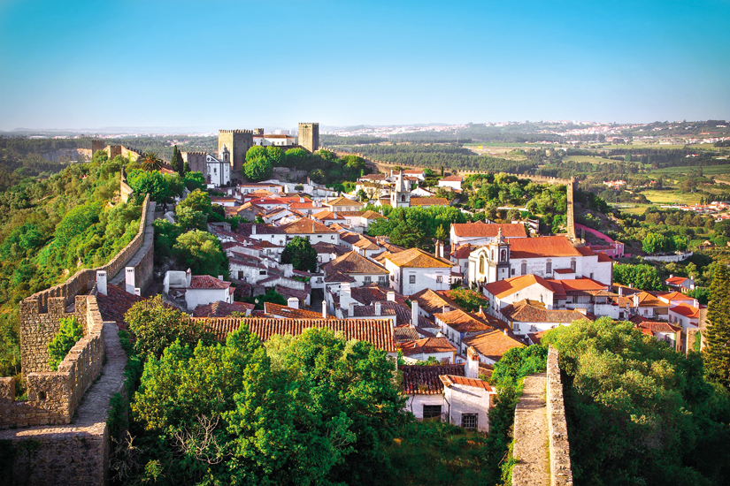 image Portugal obidos vue aerienne village 26 it_13543604