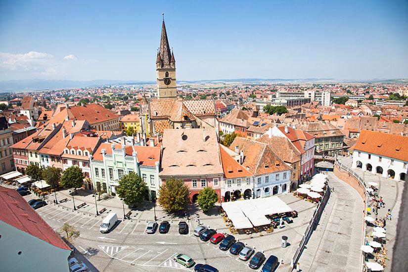 image Roumanie Sibiu panorama  fo