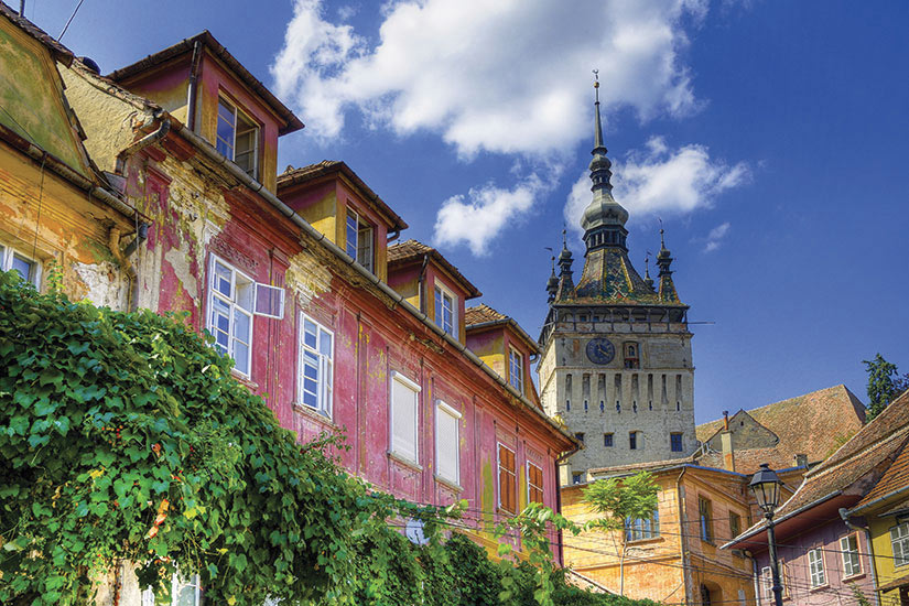 image Roumanie Sighisoara cite medievale  fo