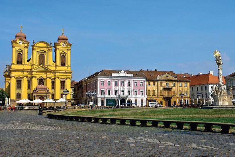 image Roumanie Timisoara vue sur la rue  fo