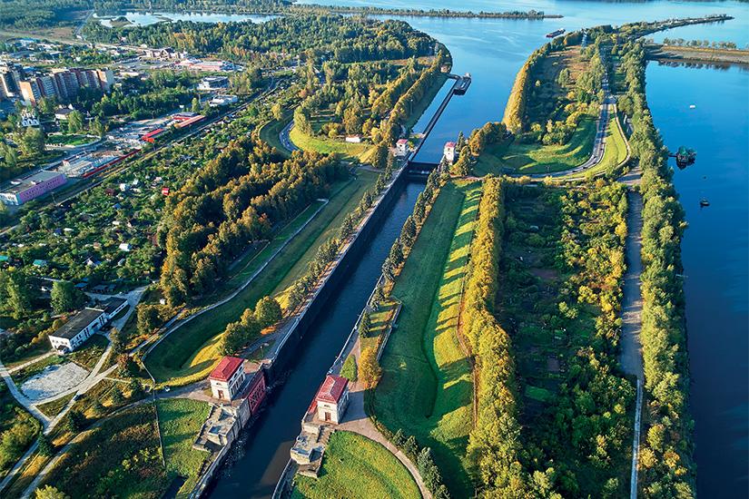 image Russie Doubna Ecluse sur le Canal de Moscou Volga 50 as_243040920