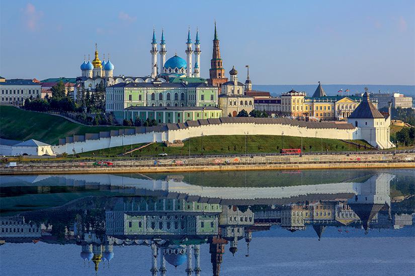 image Russie Kazan Kremlin et son reflet dans la riviere 67 as_69775540
