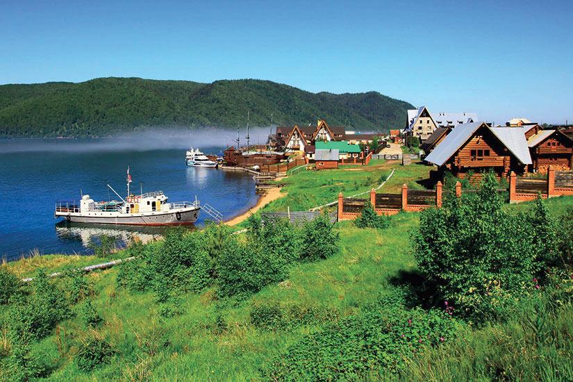 image Russie Lac Baikal Listvianka Panorama  it
