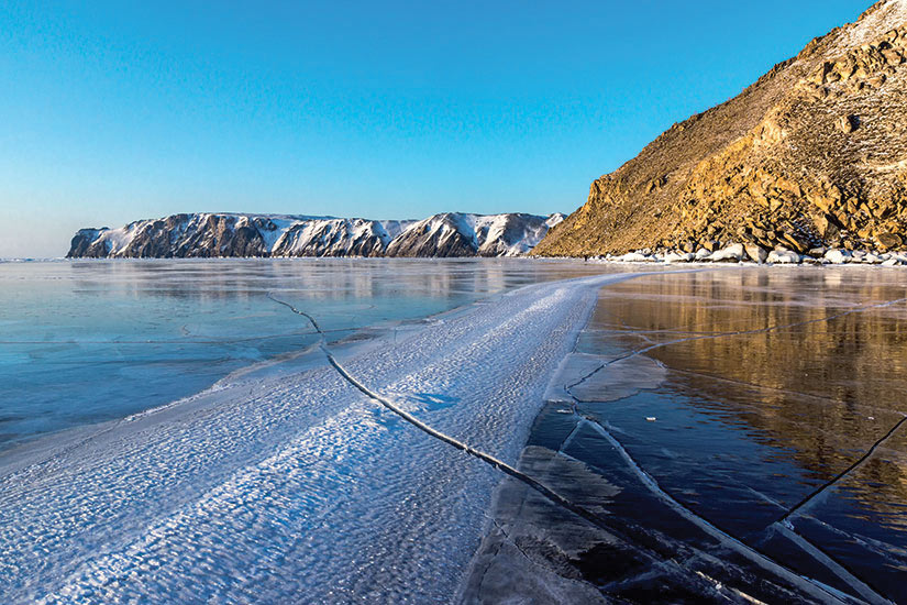 image Russie Lac Baikal surface glacee  fo