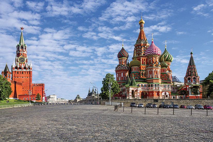 image Russie Moscou Kremlin de Moscou et cathedrale Saint Basile sur la Place Rouge  fo