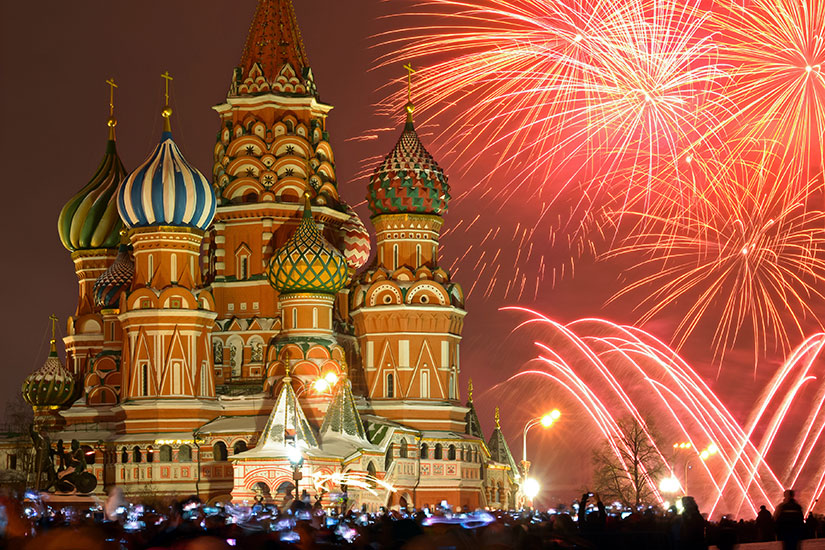 image Russie Moscou feux artifice  fo