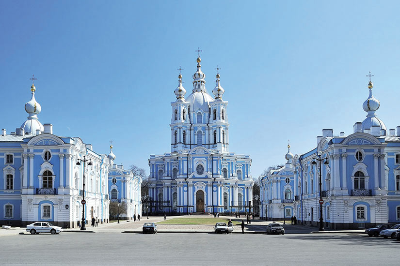 image Russie Saint Petersbourg Cathedrale Smolny et Couvent  it
