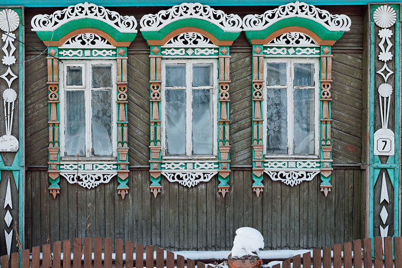 image Russie Suzdal Fenetres cadres bois sculpte  fo