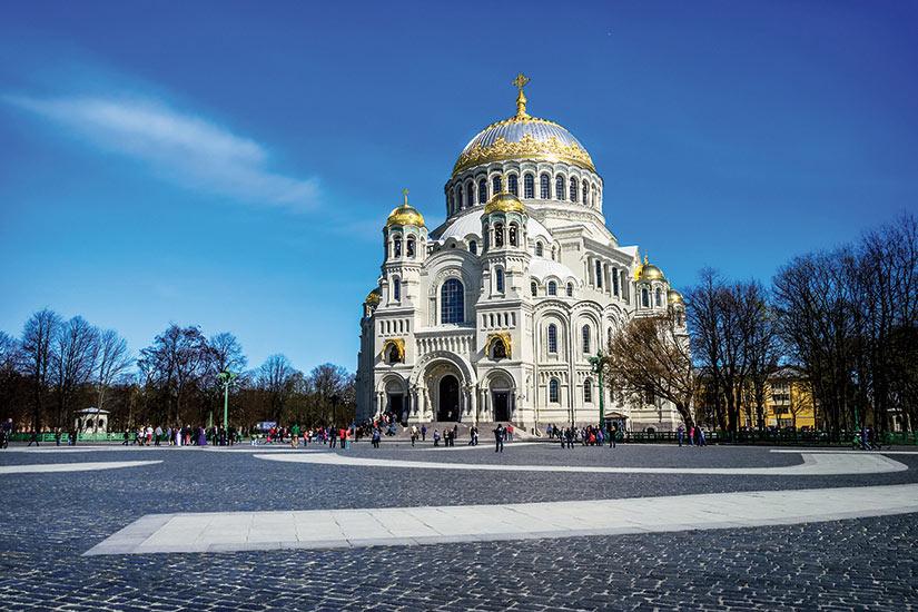 image Russie cathedrale navale de Saint Nicolas a Kronstadt  fo