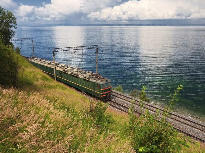 image Russie lac baikal et train
