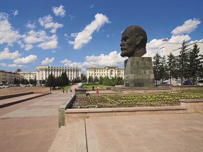 image Russie oulan oude statue de lenine