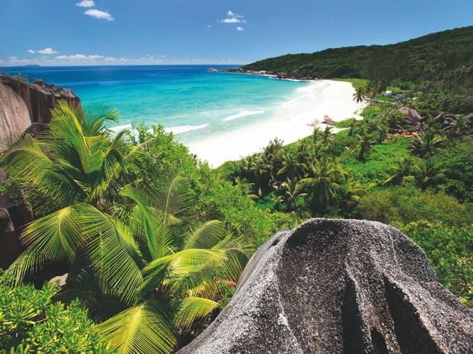 image Seychelles la digue plage