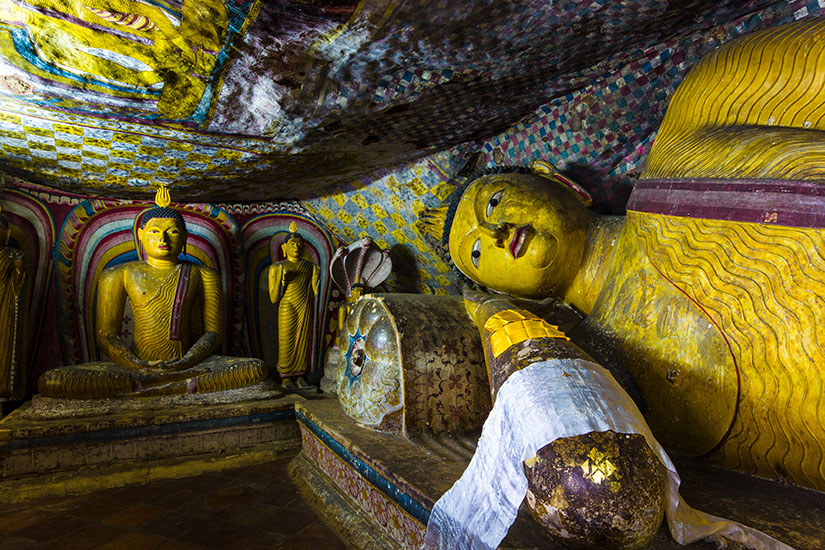 image Sri Lanka Dambulla temple grotte Bouddha  fo
