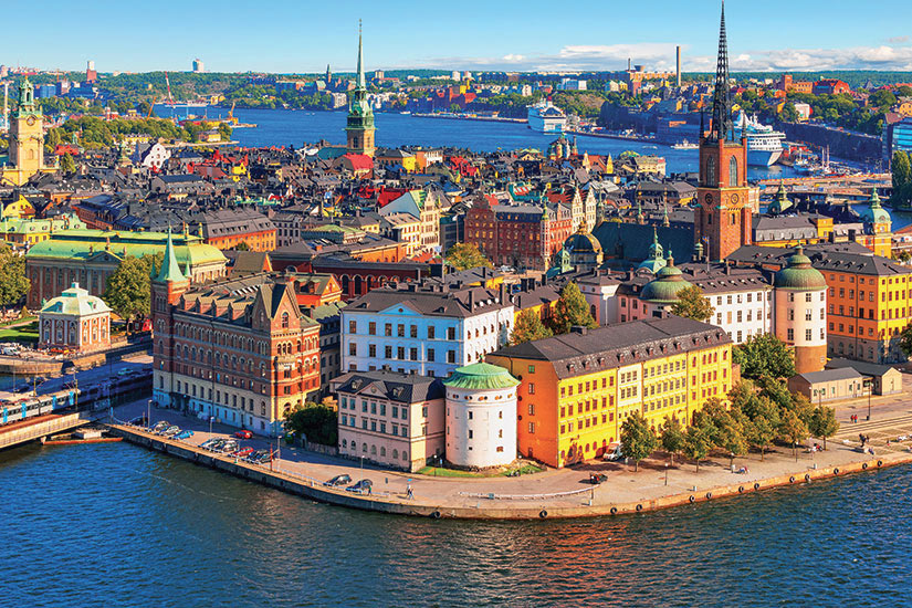 image Suede Stockholm panorama aerienne  fo