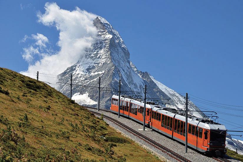 image Suisse Monte Cervino train du Gornergrat et Matterhorn  fo
