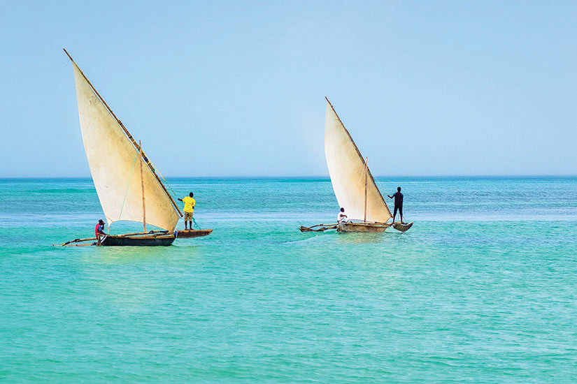 image Tanzanie Zanzibar bataux Ngalawa typique  fo