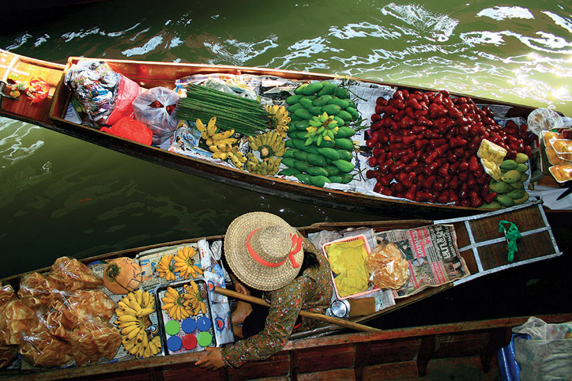 image Thailande Damnoen Saduak marche flotant  fo