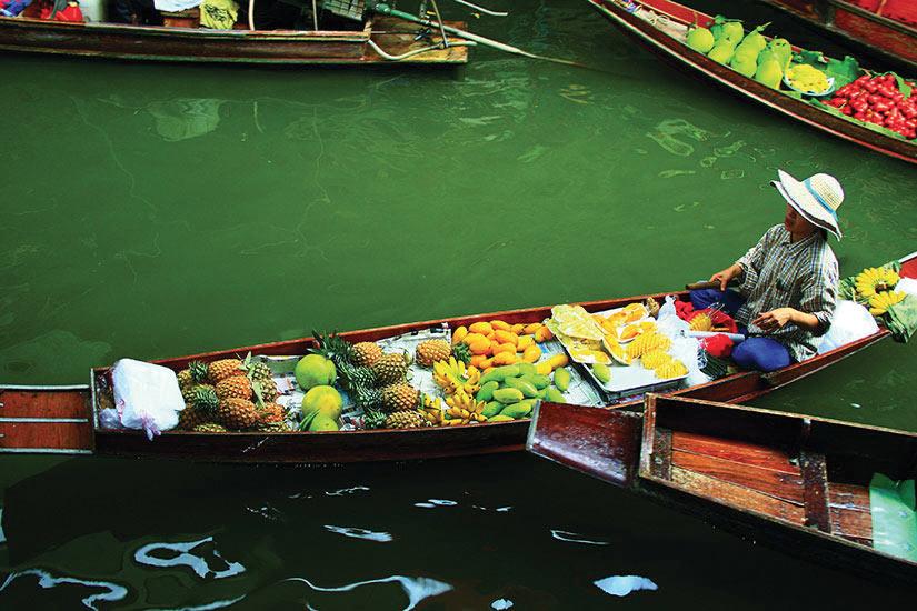 image Thailande Marche Marche flottant  fo