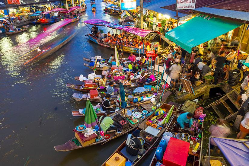 image Thailande Samut Songkhram Amphawa flottant marche  it