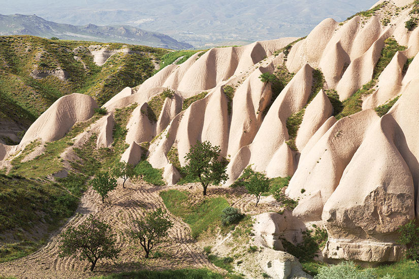 image Turquie Cappadoce paysage rochers roses  fo