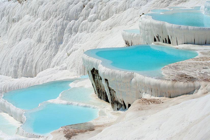 image Turquie Pamukkale bassins  fo