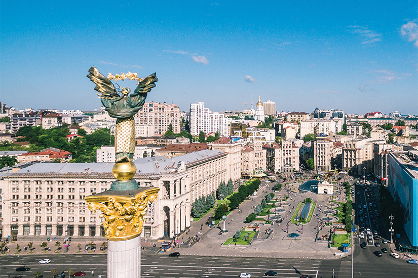 image Ukraine Kiev Vue aerienne de la place de l independance 34 as_233302717