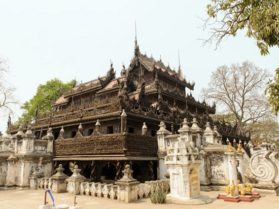 image birmanie monastere shwenandaw