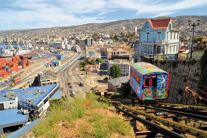 image chili valparaiso funiculaire escalier ferroviaire  fo
