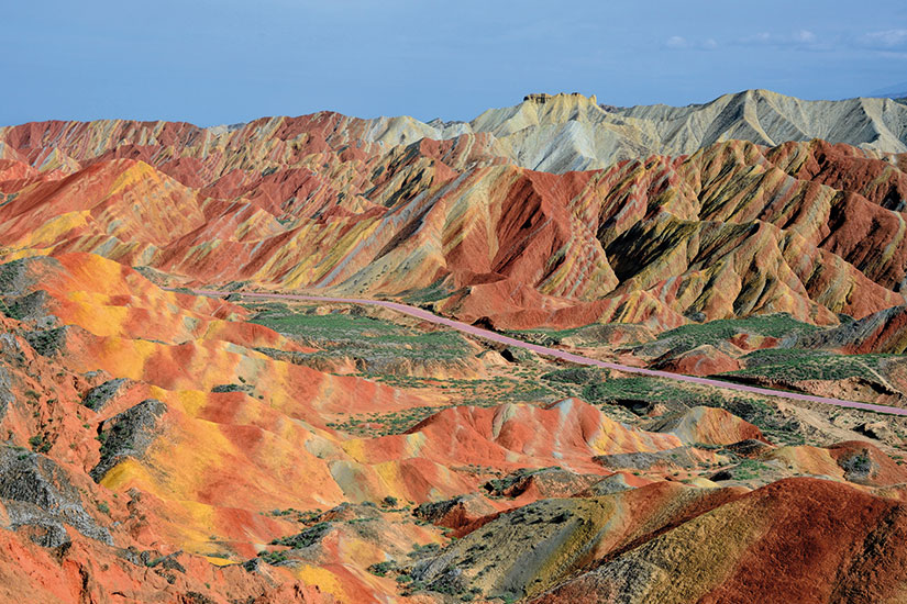 image chine zhangye formations rocheuses colorees  fo
