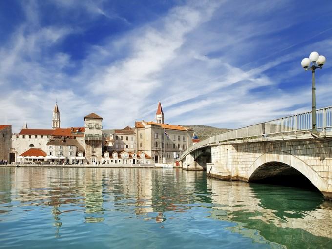 image croatie trogir pont