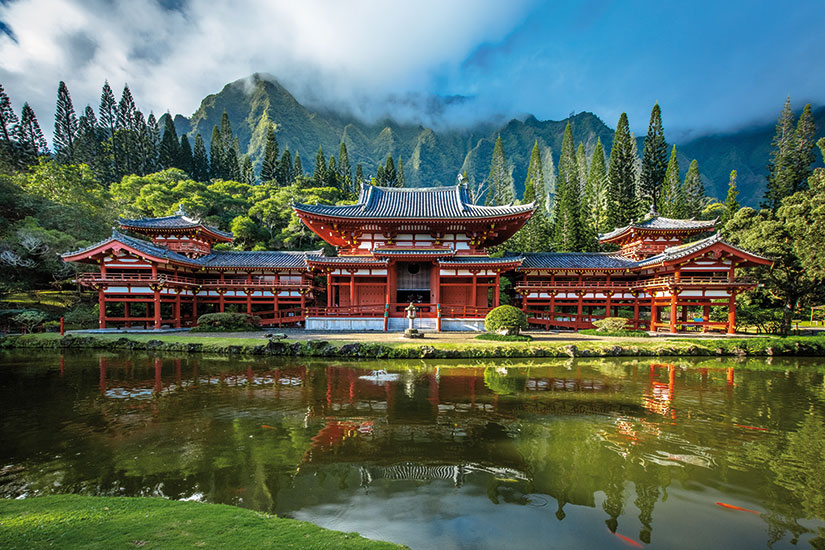 image etats unis hawaii byodo in temple  fo