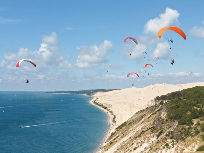 image france arcachon dune du pilat parachute
