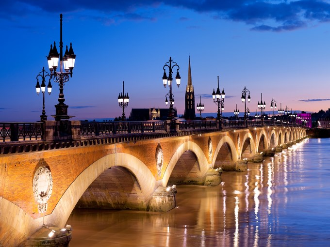 image france bordeaux nuit pont