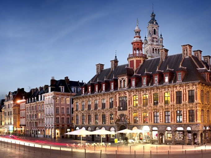 image france lille place nuit