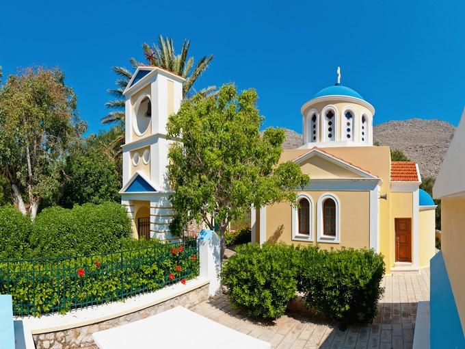 image grece rhodes symi hotel pedi beach eglise