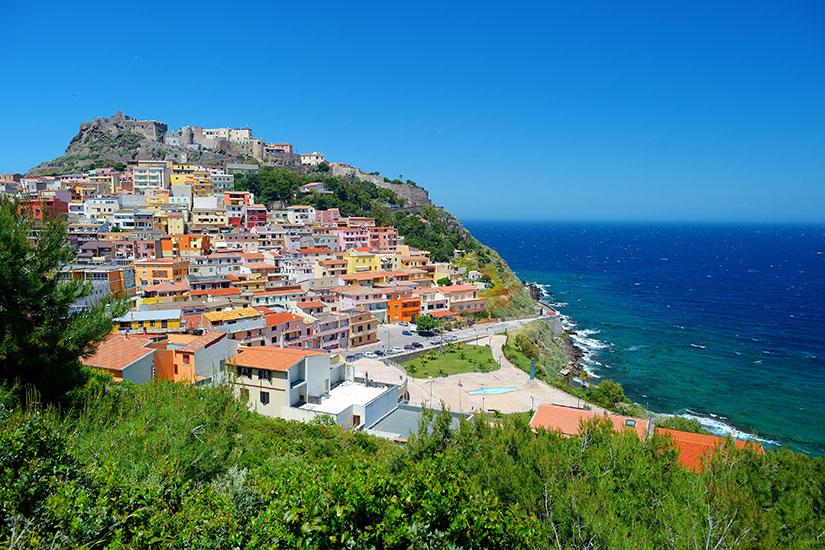 image italie Castelsardo panorama  fo