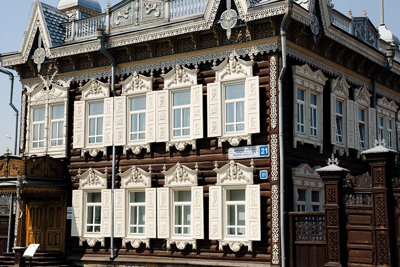 image russie irkutsk facade bois  fo