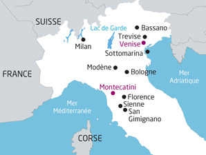 (Map NT) carte Italie Venise A Florence Sienne 272072
