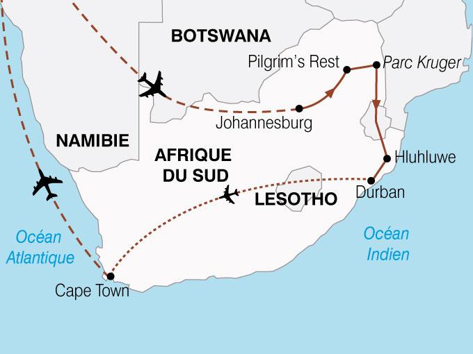 CARTE Afrique Du Sud LeMonde En Un Pays  shhiver 546520