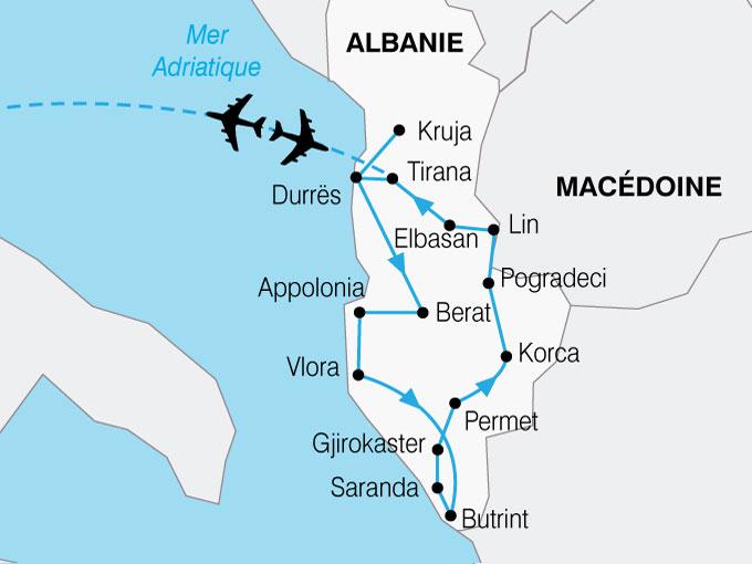 CARTE Albanie  shhiver 610588