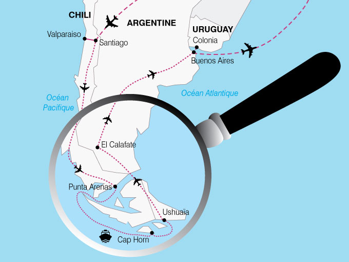 CARTE Amerique Latine Chili Argentine Uruguay  shhiver 300944