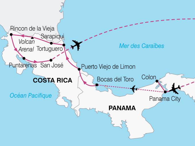 CARTE Amerique Latine Panama Costa Rica  shhiver 812010